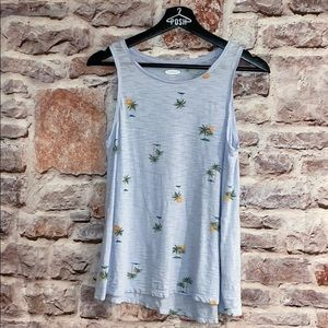 Light blue tropical tank